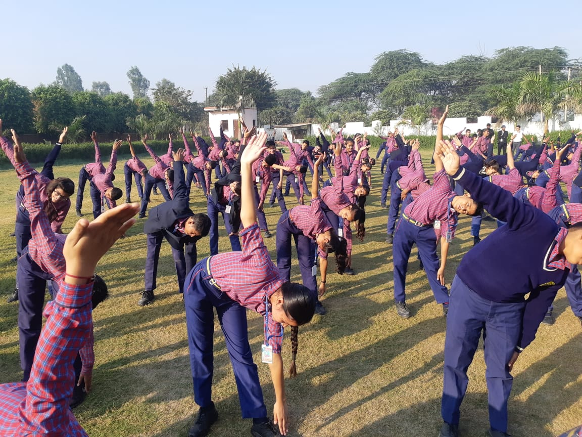 Second Day Activity Free Hand Exercise In School Assembly As A Part Of Fitness Week Celebration Nvn School